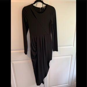 Express black dress with high-low hem